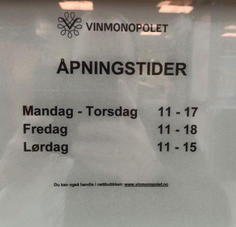 Vinmonopol_åpningstider
